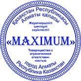 Образец печати для ТОО №13