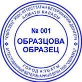 Образец печати для ВРАЧА №1