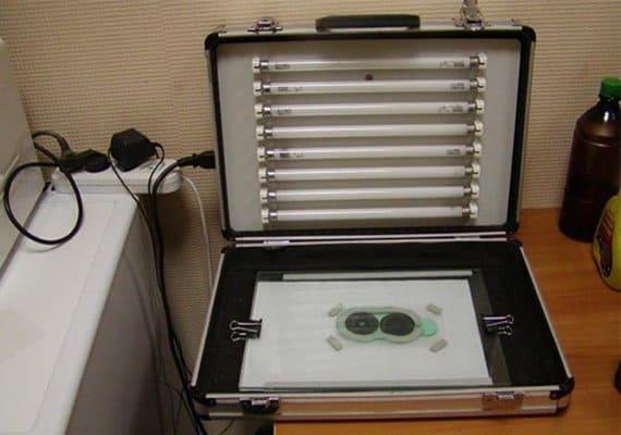 Фотополимерная камера для изготовления печатей и штампов